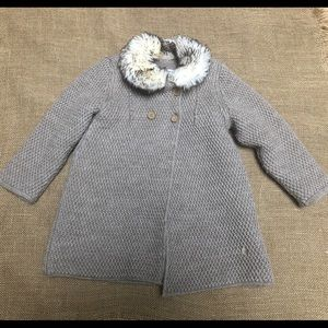 EUC PILI CARRERA Beige Brown Wool Coat Sweater 6